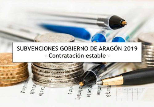 Subvenciones en Aragón para contratación estable 2019