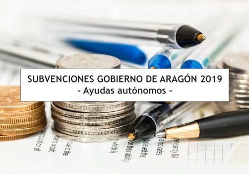 Subvenciones inicio actividad a autónomos en Aragón