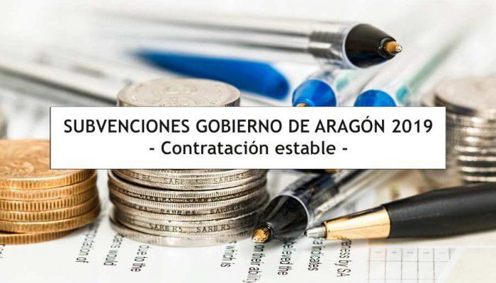 Subvenciones Gobierno Aragon - Contratacion Estable