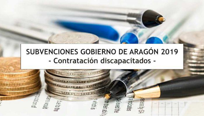 Subvenciones Gobierno Aragon - Contratacion Minusválidos - Asesoría Arba